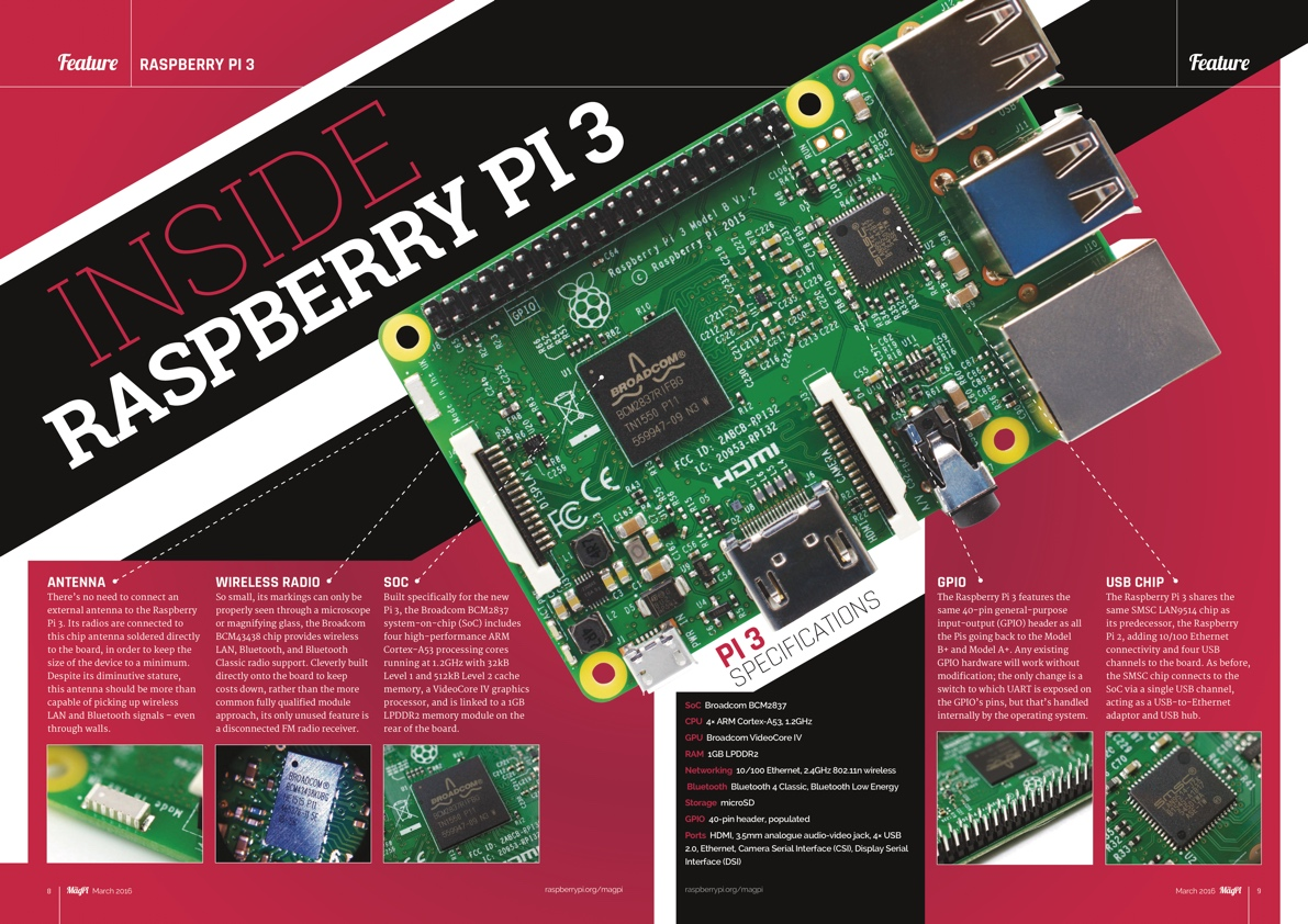 Raspberry Pi 3 is here! Learn all about it's new features and functionality  and see how it compares to previous models in the official Raspberry Pi  magazine